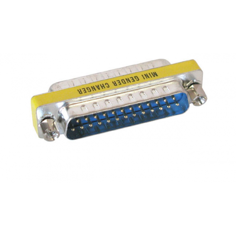 25-PIN D-SUB GENDER CHANGER, M-M