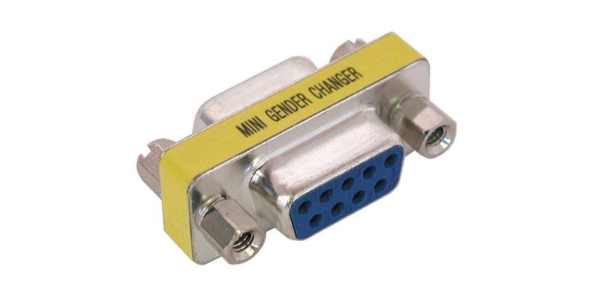 9-PIN D-SUB GENDER CHANGER, F-F