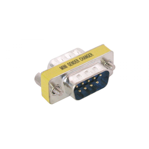 9-PIN D-SUB GENDER CHANGER, M-M