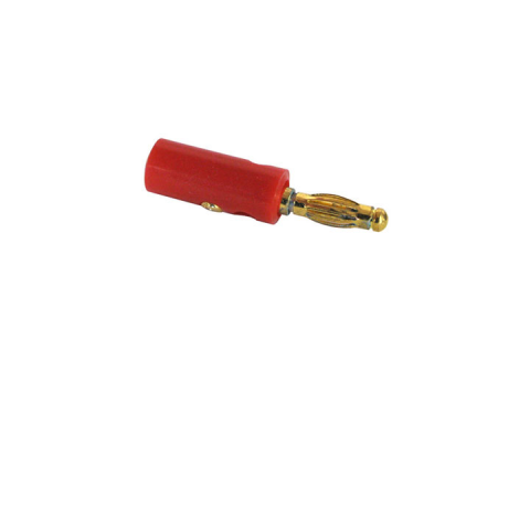 RED BANANA PLUG, PLASTIC SHELL