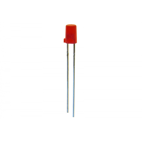 4MM RED FLAT-TOP LED