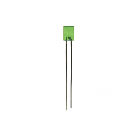 GREEN RECTANGULAR LED, 5 X 2MM