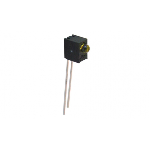AMBER 3MM LED ASSEMBLY, RIGHT-ANGLE