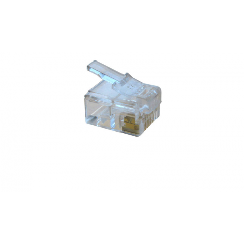 6 PIN CRIMP-ON MODULAR PLUG RJ-12