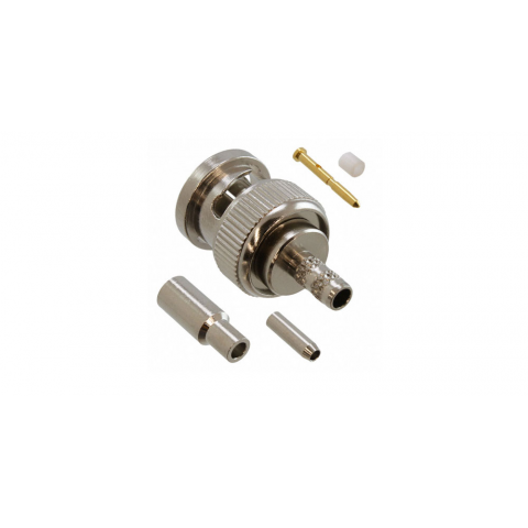 AMPHENOL BNC MALE PLUG, CRIMP-ON