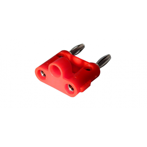 DUAL STACKING BANANA PLUG, RED