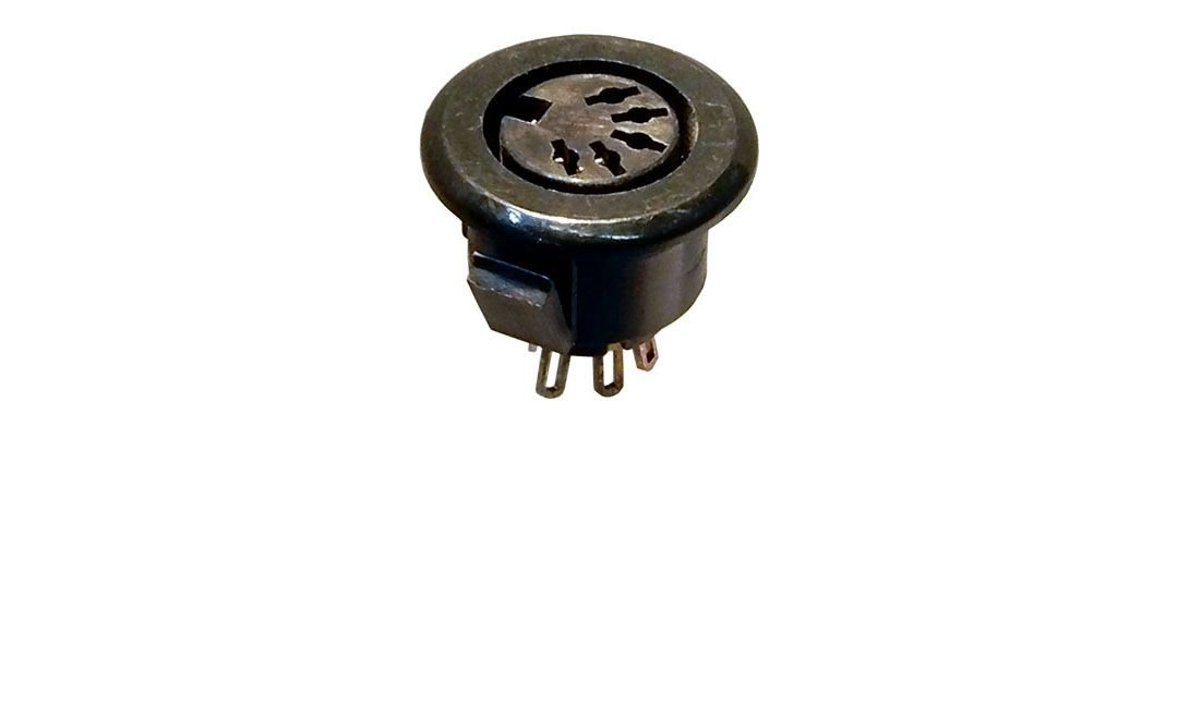 5-PIN DIN JACK, 180 DEG., SNAP-IN
