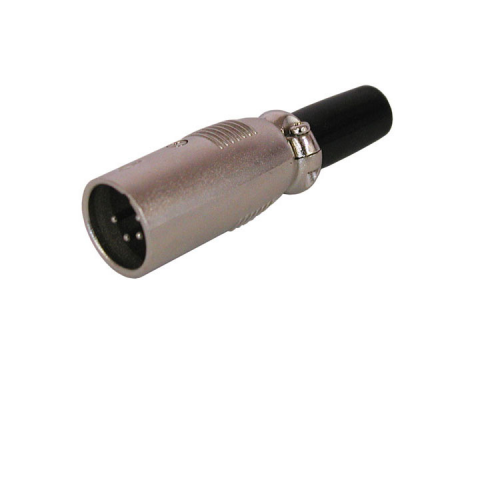 4-PIN XLR MALE CONNECTOR, IN-LINE