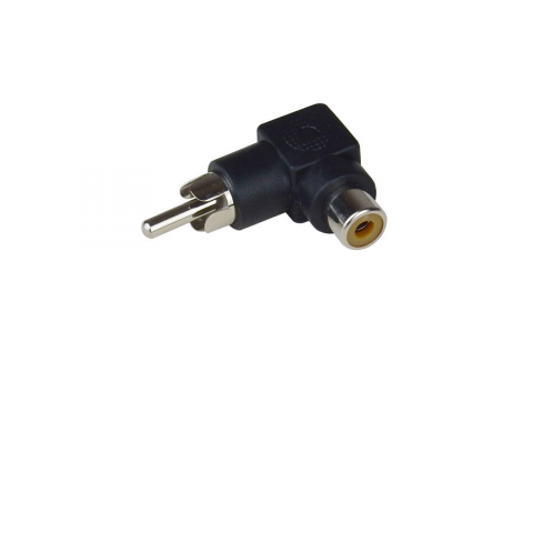RIGHT-ANGLE RCA JACK ADAPTER