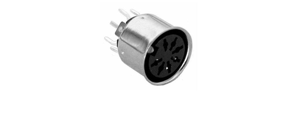 7 PIN DIN JACK, PC MOUNT