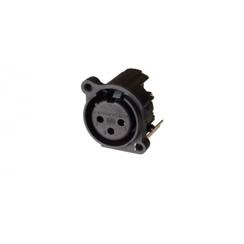 NEUTRIK 3-PIN XLR CONNECTOR, PC MOUNT