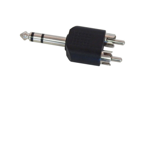 "1/4"" STEREO PLUG TO 2 RCA PLUGS"