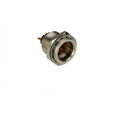 4-POLE MINI-XLR MALE RECEPTACLE