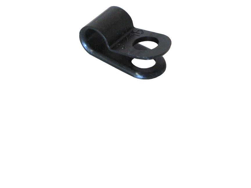 "3/16""DIA NYLON CABLE CLAMPS, #10 STUD"
