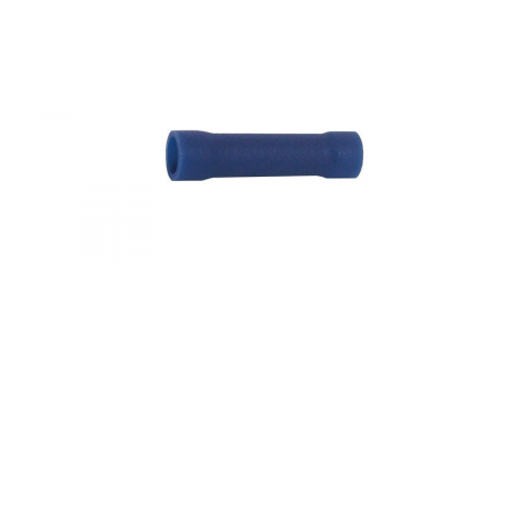 BUTT CONNECTOR, VINYL-INSULATED, BLUE