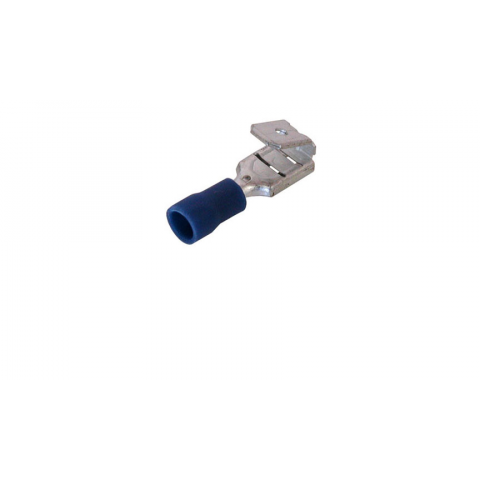"1/4"" PIGGY-BACK PUSH-ON TERMINAL, BLUE"