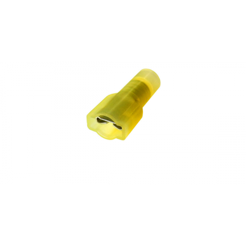 ".250"" FULLY-INSULATED PUSH-ON FEMALE, YELLOW"