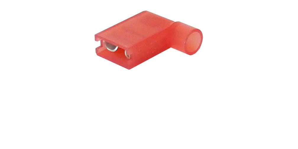 "1/4"" FULLY-INSULATED FLAG TERMINAL, RED"