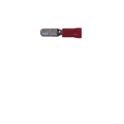 FULLY INSULATED MALE BULLET CONN., RED