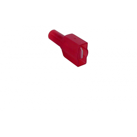 ".250"" FULLY-INSULATED PUSH-ON MALE, RED"