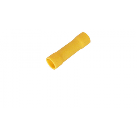 BUTT CONNECTOR, VINYL-INSULATED, YELLOW