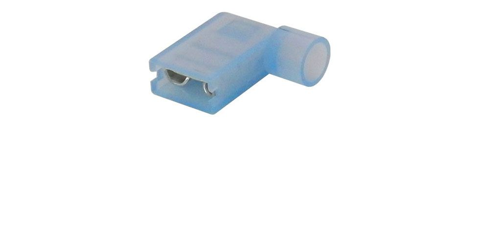 "1/4"" FULLY-INSULATED FLAG TERMINAL, BLUE"