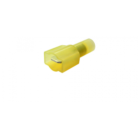 ".250"" FULLY-INSULATED PUSH-ON MALE, YELLOW"