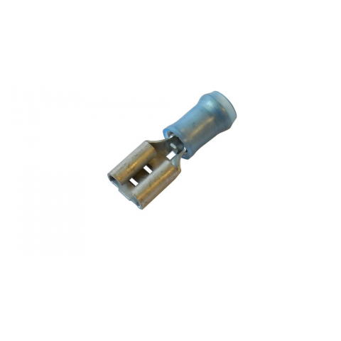 "0.25"" FEMALE QC CRIMP TERMINAL, BLUE NYLON"