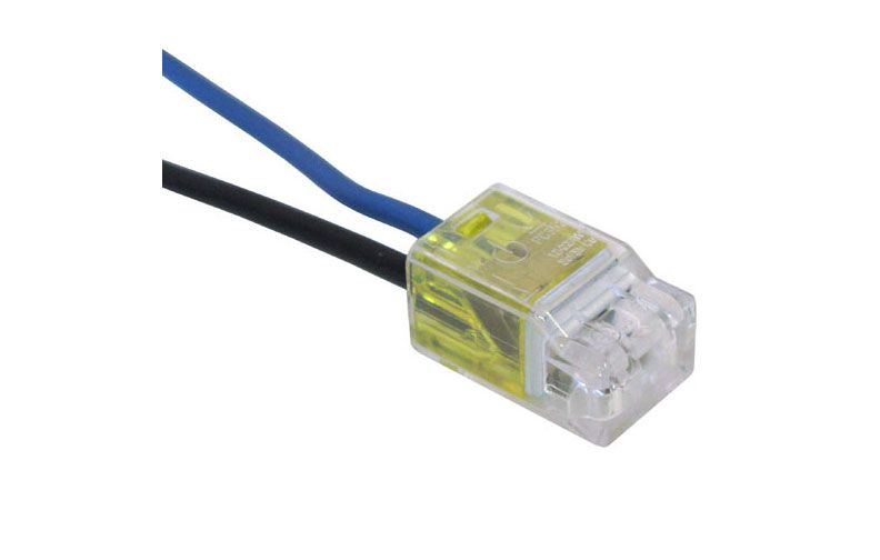 2 POLE PUSH-IN CONNECTORS, 22-12 YELLOW