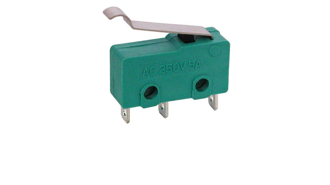 MINI SNAP-ACTION SWITCH W/ CURVE TIP LEVER