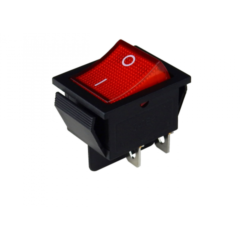 DPST ON-OFF RED ROCKER SWITCH