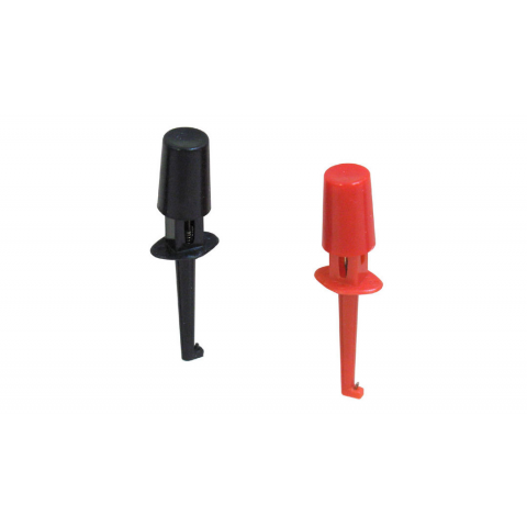 MINI-GRABBER TEST CLIPS, BLACK/RED