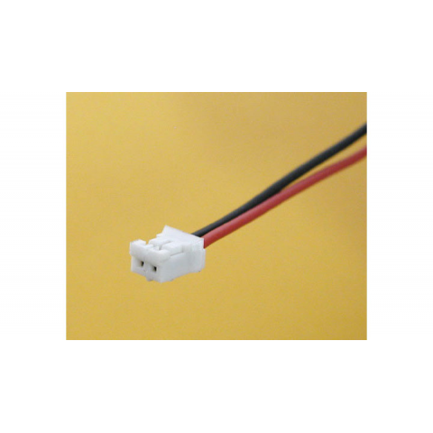 SMALL BATTERY CONNECTOR, WHITE, 2MM SPACING