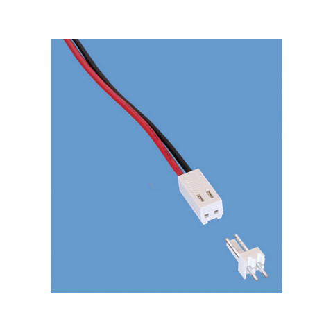 2-PIN CONNECTOR W/HEADER, .10""