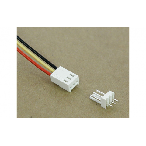 3-PIN CONNECTOR W/HEADER, 0.1""