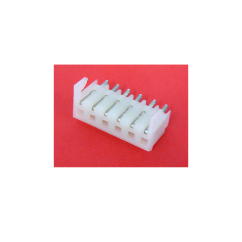 6-POLE PCB SIP HEADER SOCKET, 0.156""