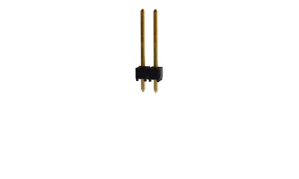 "2-PIN HEADER, 0.10"" GOLD"