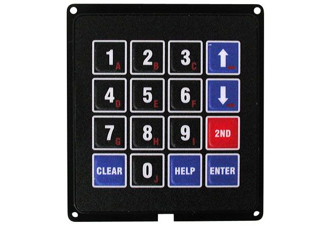 16 BUTTON KEYPAD (4 X 4)