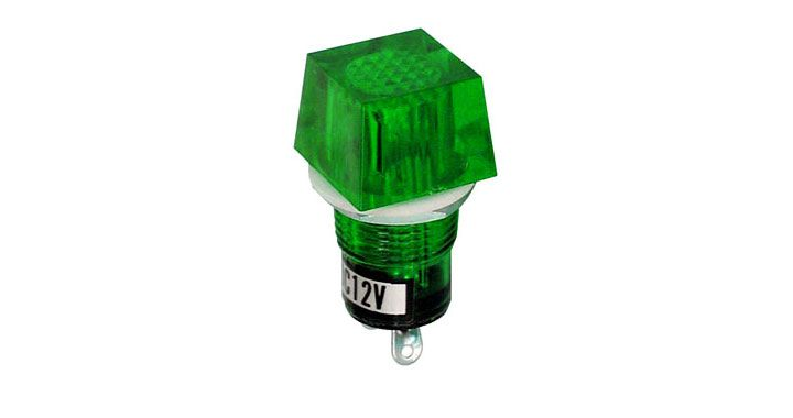 GREEN 12V LAMP ASSEMBLY