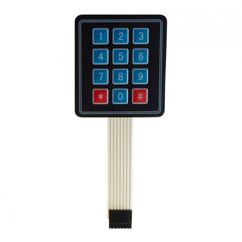 3 X 4 MATRIX MEMBRANE KEYPAD