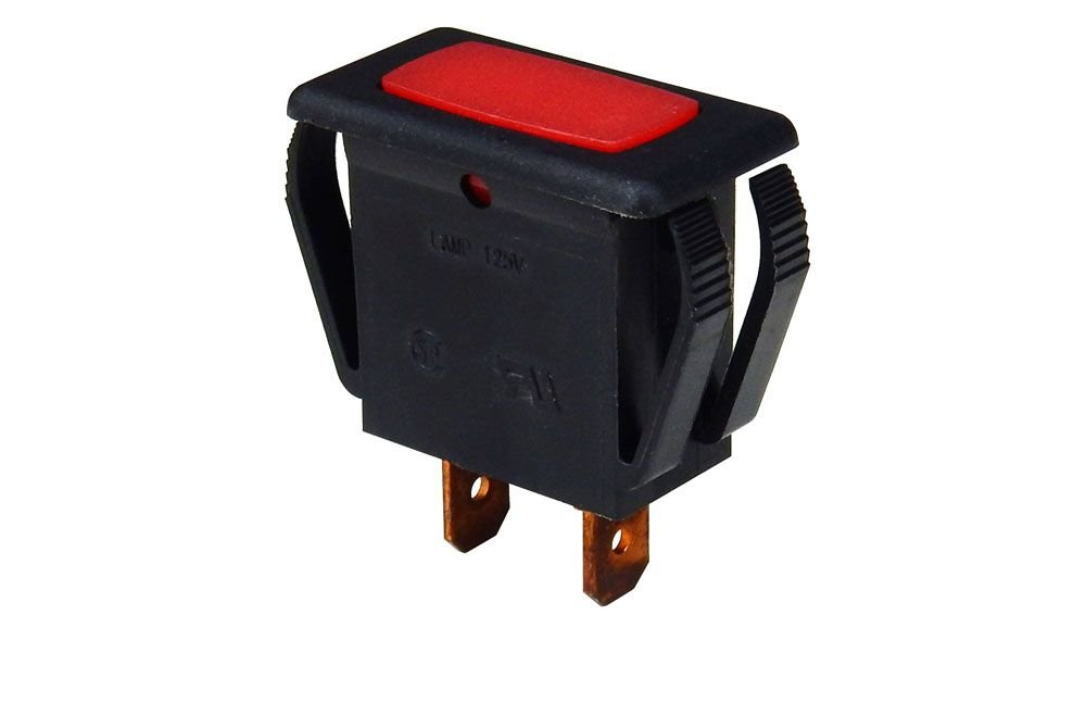 125V NEON INDICATOR, RED RECTANGLE