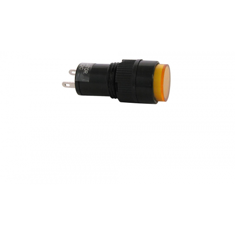 12 VDC INDICATOR, YELLOW 12MM ROUND