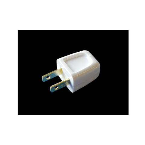 EASY INSTALL 2-WIRE AC PLUG, WHITE