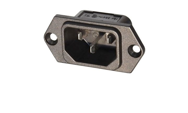 IEC POWER INPUT RECEPTACLE, SOLDER-LUGS