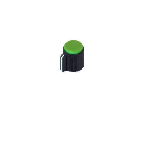 POINTER KNOB FOR 6MM SHAFT, GREEN FACE