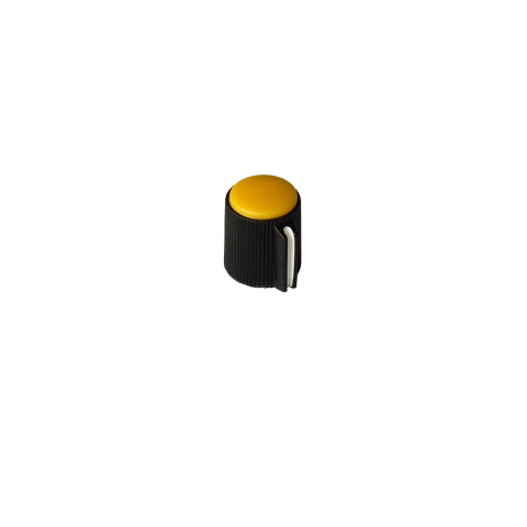 "POINTER KNOB FOR 1/8"" (3.2MM) SHAFT, YELLOW FACE"