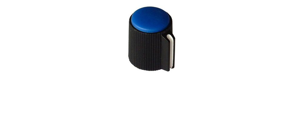 "POINTER KNOB FOR 1/8"" (3.2MM) SHAFT, BLUE FACE"