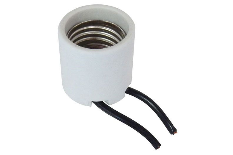 MEDIUM SCREW BASE CERAMIC LAMP SOCKET