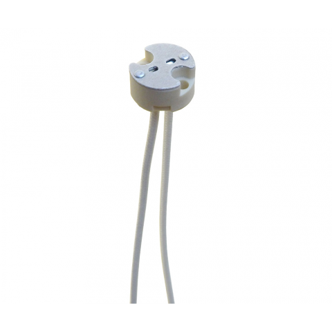 BI-PIN HALOGEN SOCKETS, ROUND TYPE, 2-PIN