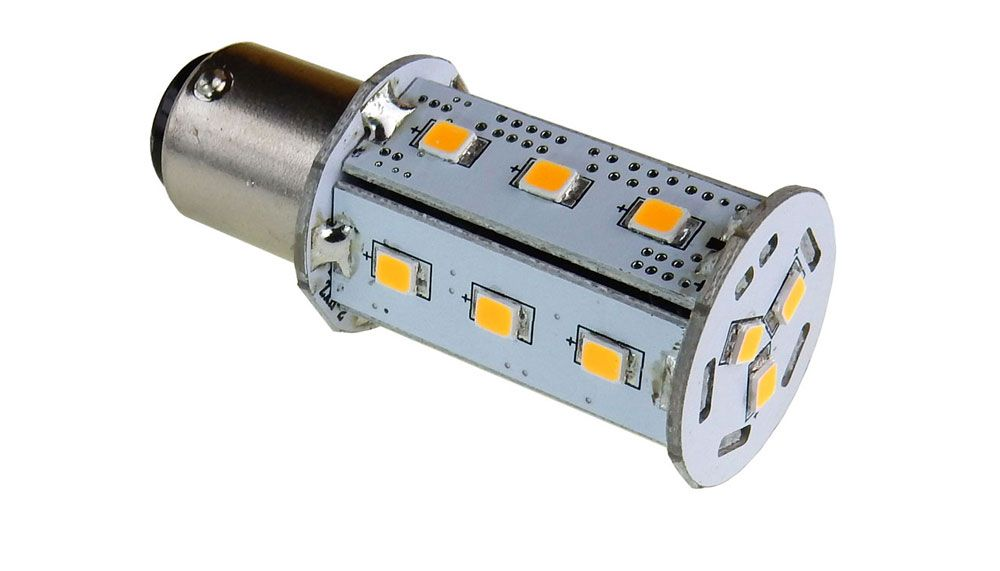 10-30V OMNI-DIRECTIONAL LED BAYONET BASE LAMP, WW